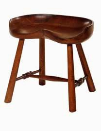 No. 103 Tractor Stool In Mahogany M 1 Finish By WrightTableCompany