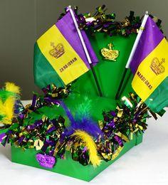 Create a mini Mardi Gras Parade Float out of a shoe box