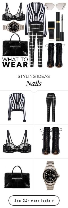 """""""What to Wear"""" by ginshelyn on Polyvore featuring Gianvito Rossi, Givenchy, Damaris, Balenciaga, Tom Ford and Rolex"""