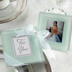 Personalized Frosted Glass Photo Coasters- can use quote rather than picture