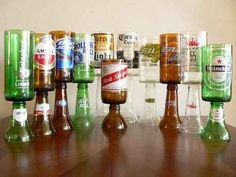 Beer Bottle Goblet   A 12 Pack Of Handmade Beer Stuff You Can Own