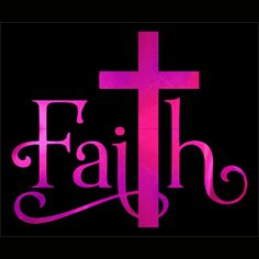 Faith, Faith - Metallic, Plain or Glitter Vinyl Bling on Black Shirt - Contact for Shirt Color Change and Vinyl Color
