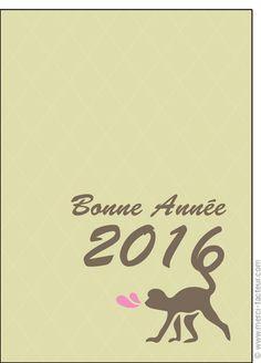 #carte #nouvelan #chinois #chine #signe #singe Carte L'animal de la nouvelle ann�e pour envoyer par La Poste, sur Merci-Facteur ! Chinese New Year Card, Illustrated Maps, The Letterman, Monkeys, Happy Year, Thanks, Baby Newborn, Animaux
