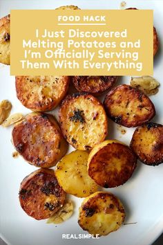I Just Discovered Melting Potatoes and I'm Officially Serving Them With Everyt. - I Just Discovered Melting Potatoes and I'm Officially Serving Them With Everything Potato Sides, Potato Side Dishes, Vegetable Side Dishes, Vegetable Recipes, Vegetarian Recipes, Healthy Recipes, Recipes Potatoes Side Dishes, Recipes For Vegetables, Pork Chop Side Dishes