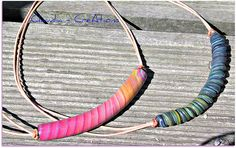 Extruder Necklace - pretty in pink & rough blue (SOLD) by CreAtions2007, via Flickr