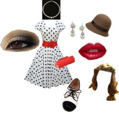 """""""Modern 50's Look"""" by jessieju62 ❤ liked on Polyvore"""