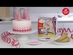 Coppenrath & Wiese – Kuchenkult – Tutorial – Torte zum Kindergeburtstag im rosa Schloss-Design - YouTube