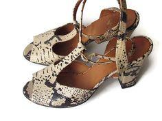 Vintage Snakeskin Shoes 9 Robert Clergerie Espace by vintagepaige