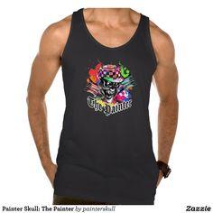 Painter Skull: The Painter Tanks Tank Tops