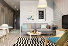 The team at int2architecture designed this one bedroom apartment as a temporary home for a young couple.