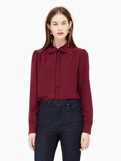 bow tie blouse | Kate Spade New York