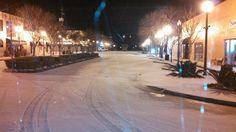Downtown Bay Minette AL; Snow January 28, 2014