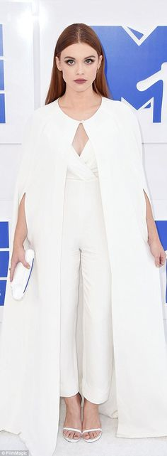 Ice maidens: Holland Roden and Tove Lo were bright in white...