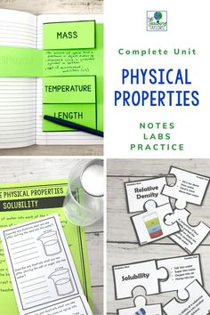 Physical Properties of Matter Activities Bundle Teaching 5th Grade, 5th Grade Science, Science Student, Elementary Science, Science Classroom, Elementary Teacher, Elementary Schools, Classroom Ideas, Matter Activities