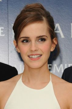 Emma Watson at the premiere of Noah in Leicester Square, London, England