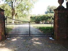 Scalloped Automated Iron Driveway Gate