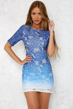First Touch Dress Blue