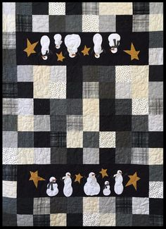 Frosty Folks by The Quilt Patch made with Maywood Flannel.