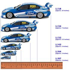 Scale Model Cars Chart
