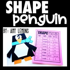 Students create penguins using various shapes! They record their shape characteristics on the penguin paper!