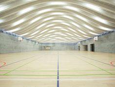 BIG's gammel hellerup gymnasium sports massive undulating roof