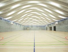 BIG's gammel hellerup gymnasium sports massive undulating roof