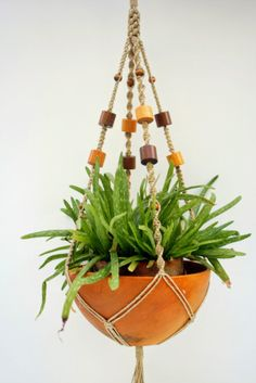 Macrame Plant Hanger Handmade with Natural Hemp and by Macramaking, $25.00
