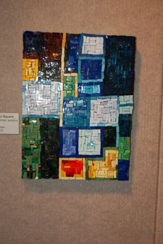 OOAK Mondrion Square mosaic art piece by beverlytjenkins on Etsy, $225.00