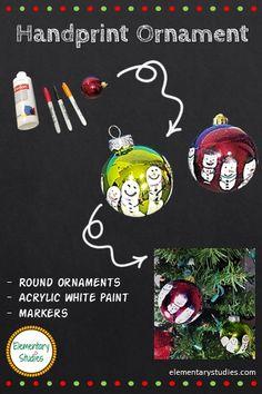 Elementary Studies: Handprint Snowman Ornament