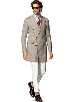 Suitsupply Outerwear: Step up your outerwear game with Suitsupply's sartorial excellence: tapered field jackets, wool peacoats and dapper duffle jackets. Field Jacket, Suit Jacket, Grey Outfit, Lakme Fashion Week, Mens Fall, Double Breasted Coat, Gentleman Style, British Style, Menswear