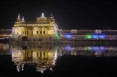 The Golden Temple in Amritsar, India. the holiest site for Sikhs