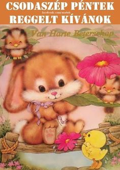 Spring Cute Easter Bunny & Chick Ruth Morehead So Sweet! Vintage Cartoon, Cute Cartoon, Cute Animal Illustration, Animal Illustrations, Cute Easter Bunny, Baby Painting, Beautiful Gif, Kawaii Wallpaper, Tatty Teddy