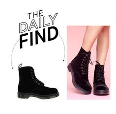 """""""The Daily Find: Dr. Martens Page Boots"""" by polyvore-editorial ❤ liked on Polyvore featuring women's clothing, women, female, woman, misses, juniors and DailyFind"""