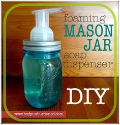 You could buy a mason jar soap dispenser top for upwards of $15... or you could DIY with materials you already have lying around the house!