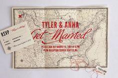Map Wedding invitation - X Marks the Spot Map Wedding Invitation, Wedding Stationary, Invitation Design, Invitation Cards, Wedding Branding, Wedding Images, Our Wedding, Destination Wedding, Wedding Ideas