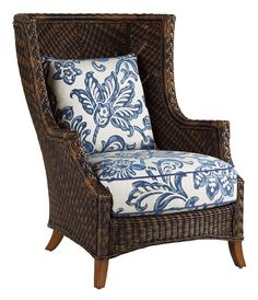 A classic wingback in a woven texture invites you to settle in and enjoy the garden view fully. A deep seat cushion ups the comfort.