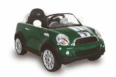 AUTO ELETTRICA MINI COOPER 12V CON RADIOCOMANDO BRITISH GREEN Biemme - 1035-GR