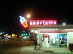 Where Dally takes the guys to eat and tell them that Cherry is on their side Council Bluffs Iowa, Joining The Marines, Neon Jungle, Retail Signs, Howard Johnson's, Vintage Neon Signs, Dairy Queen, Retro Furniture, Cityscapes