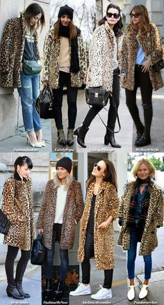 How to wear your Leo Fur (Blue is in Fashion this Year) Outfits La Veste Léopard! Leopard Print Outfits, Leopard Print Jacket, Animal Print Outfits, Leopard Coat, Leopard Fashion, Animal Print Fashion, Animal Prints, Mantel Outfit, Fur Coat Outfit