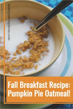 Ready for all things pumpkin? This Pumpkin Pie Oatmeal is SO yummy and hits the spot -- especially during the fall season! This will become a new favorite fall recipe and pumpkin recipe! Pumpkin Pie Oatmeal, Pumpkin Breakfast, Fall Breakfast, Pumpkin Dessert, Canned Pumpkin, Pumpkin Bread, Breakfast Ideas, Breakfast Recipes, Oatmeal Recipes