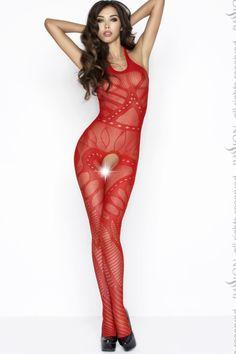 Bodystocking BS037 Red de la Passion - Cassidy.ro
