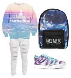 """""""never land& peter pan"""" by blueicediva on Polyvore featuring Reebok, Disney, disney, peterpan, foreveryoung and neverland"""