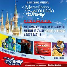 Cinemark do Floripa Shopping apresenta o Mundo Maravilhoso de Disney