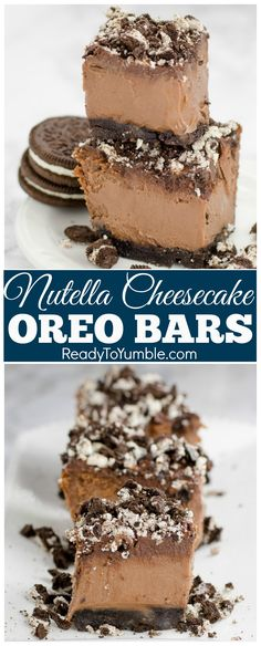 Nutella Cheesecake Oreo Bars are just as dreamy and decadent as they sound - the perfect dessert for Nutella-lovers!