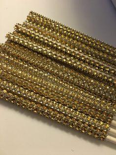 15 ct Gold cake pop sticks by Sweetpartiesbyyaya on Etsy