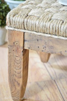 anderson + grant: Rustic DIY Footstool {Before & After}