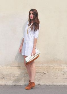 LOVE a simple, short white dress=classic style.