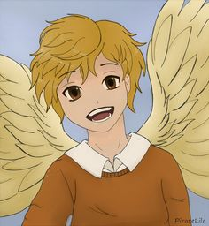 Anime manga boy angel blonde