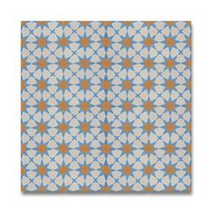 Pack of 13 Medina Blue and Orange Handmade Cement/ Granite 8-inch x 8-inch Floor and Wall Tile (Morocco) - Overstock Shopping - Great Deals on Accent Pieces