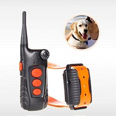 2016 Upgraded Aetertek AT-918C-1 4 in 1 Remote Shock Control Rechargeable and Waterproof Pet Dog Training Collar with Shock, Vibrate and Beep Dog Brak Collar for 1 Dog, Electronic Dog Training Shock Collar *** Click image for more details.